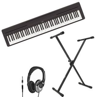 Yamaha P-45 Piano Numérique + Casque et Stand, Noir à Gear4Music.com