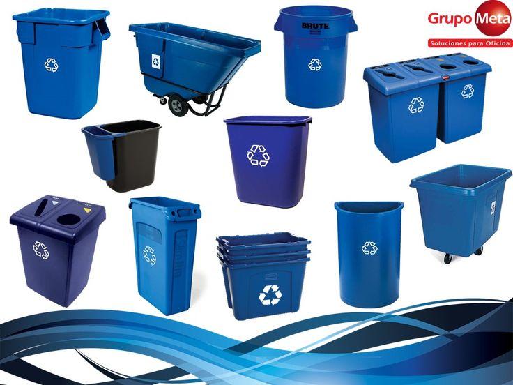 Rubbermaid carros de reciclaje cestos para basura cestos para reciclaje contenedores - Contenedores de basura para reciclaje ...