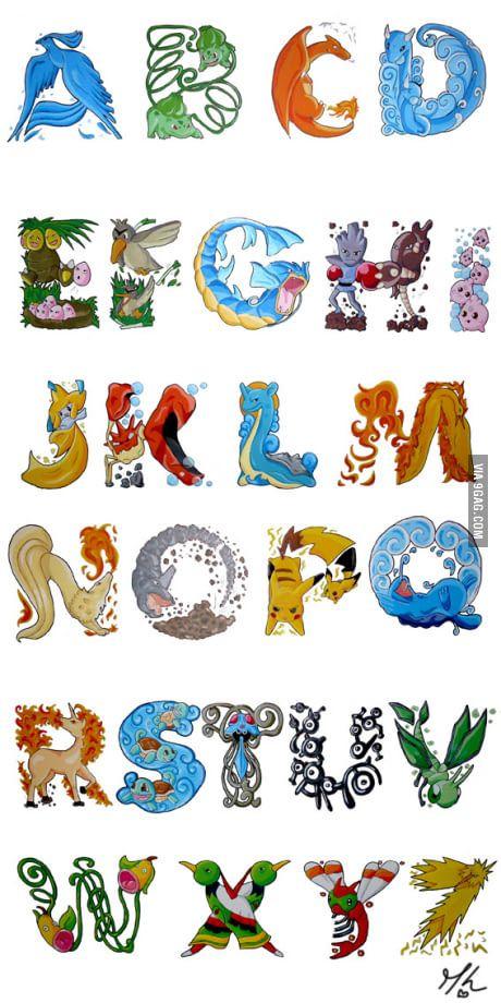 Just a Pokemon Alphabet