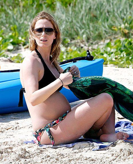 Emily Blunt Shows Off Pregnant Bikini Body, John Krasinski, Bradley Cooper Go Shirtless