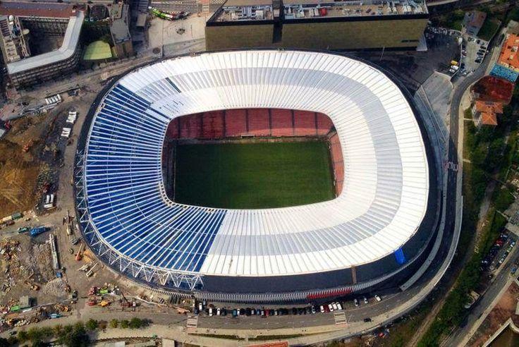 Estadio de San Mamés. Agosto 2014  #sanmames #arquitectura #construccion #estructuras #paisvasco #bilbao #futbol #estadio #architecture #construction #soccer #stadium #basquecountry