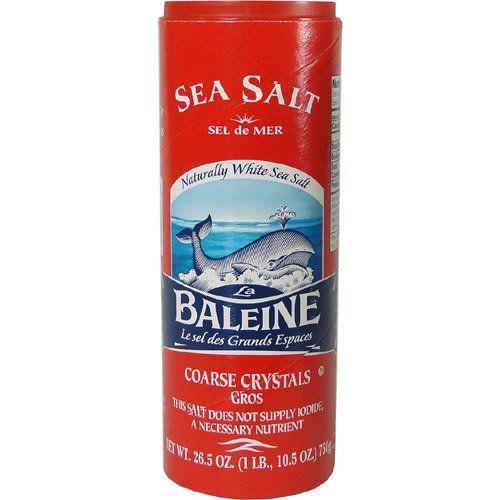 "Sea Salt Coarse ""La Baleine"" 26.4oz @ https://houseofcaviarandfinefoods.com/specialty/salts-spices/sea-salt-coarse-la-baleine-26-4oz-detail #caviar #blackcaviar #finefoods #gourmetfoods #gourmetbasket #foiegras #truffle #italiantruffle #frenchtruffle #blacktruffle #whitetruffle #albatruffle #gourmetpage #smokedsalmon #mushroom #frozenporcini #curedmeets #belugacaviar #ossetracaviar #sevrugacaviar"