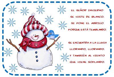 Vamos a trabajar el invierno con niños de preescolar y primaria. Para ello hemos recopilado algunos poemas del invierno y algunas rimas que nos ayudarán a crear tareas interesantes y educativas sob…