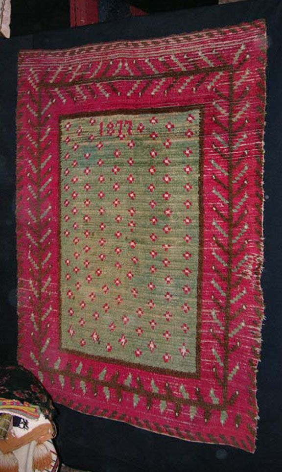 short history of rya rugs, Finnish Rya Rug, 1877