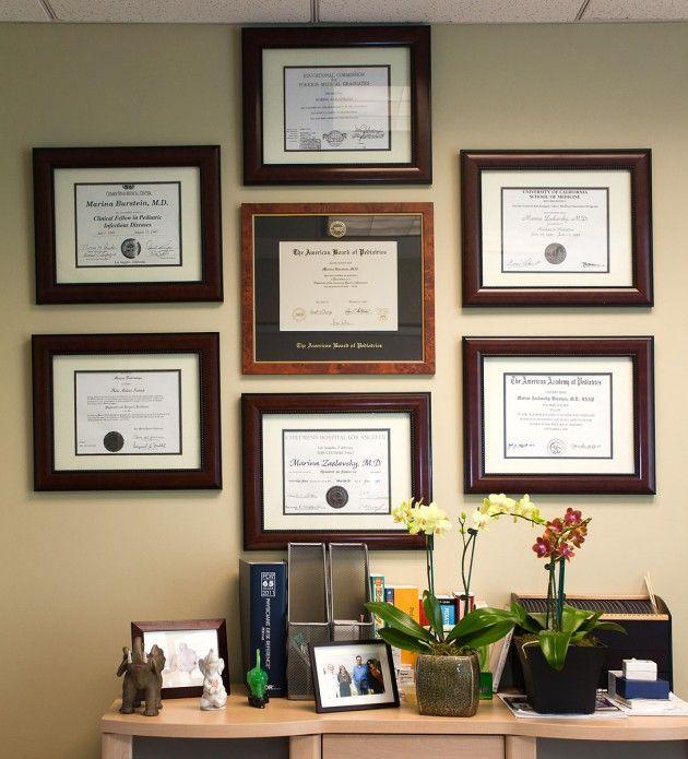 Image result for diplomas display wall