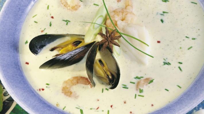Fisk- og skalldyrsuppe