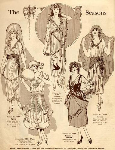 1920's Halloween Costumes. The four seasons. #Halloween