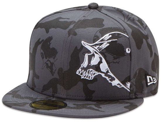Black Post 59Fifty Fitted Cap by METAL MULISHA x NEW ERA