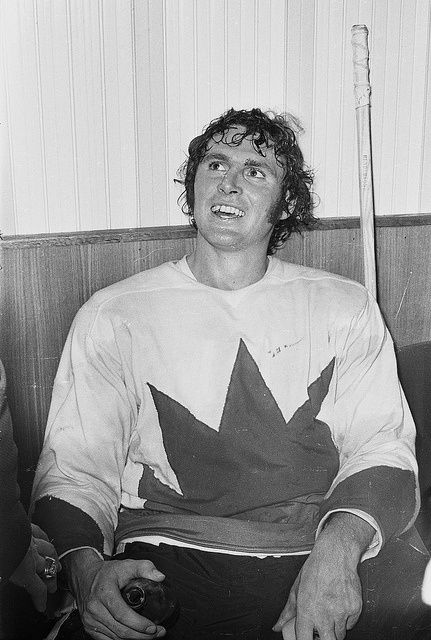 Paul Henderson after the 1972 Summit Series Game 8.