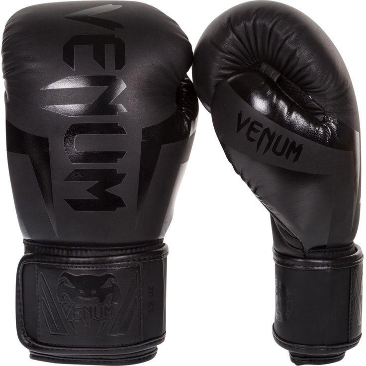 Venum Elite Thai Boxing Gloves - Matte/Black