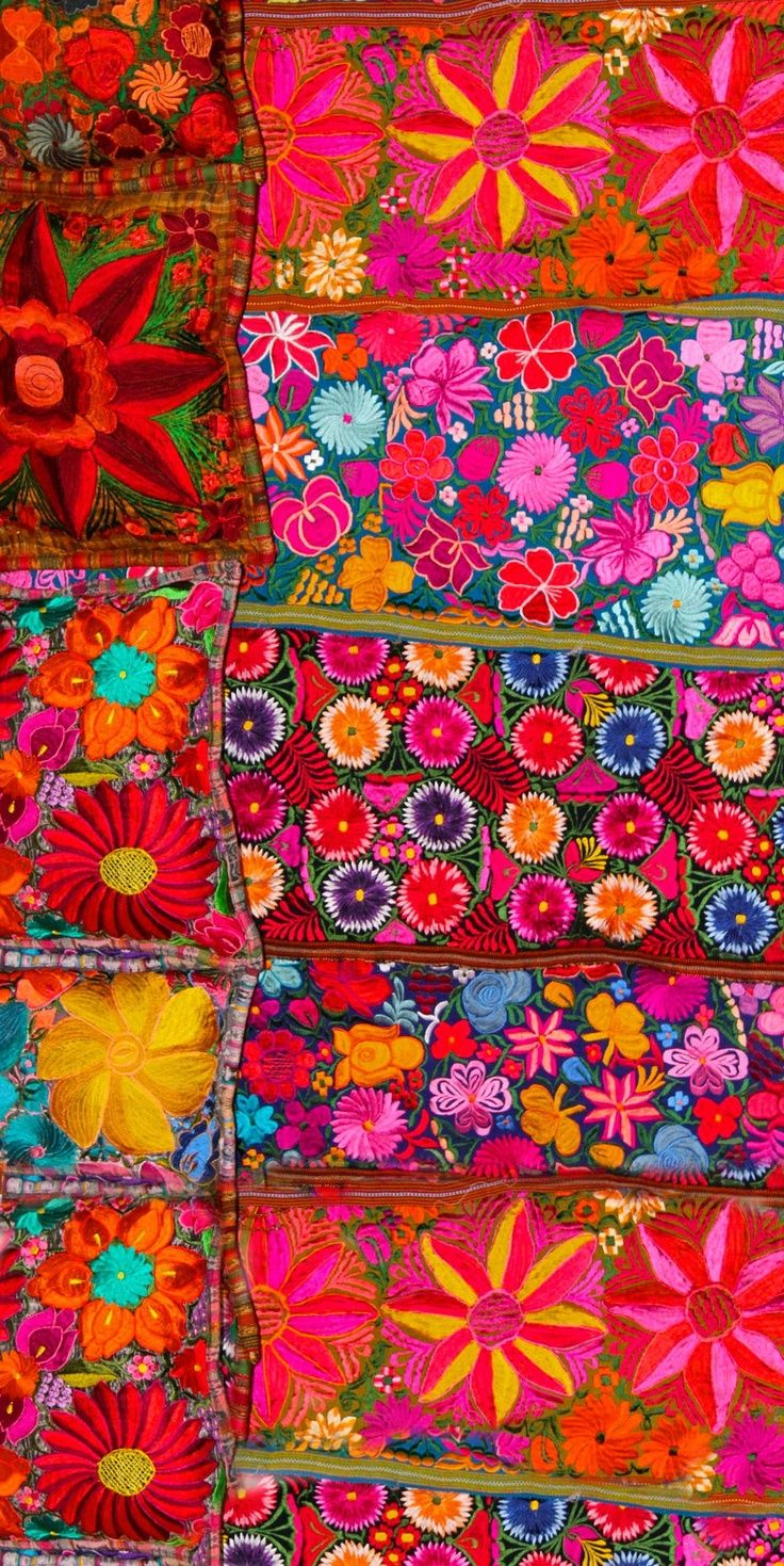 We love the brilliant colors in this Mexican #embroidery. Check out the products we offer by Mexican fair trade artisans: www.freesiafairtrade.com