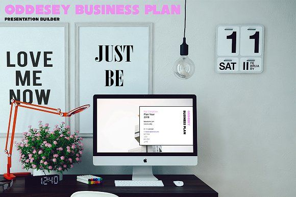 Oddesey Business Plan Presentation by BizzCreatives on @creativemarket