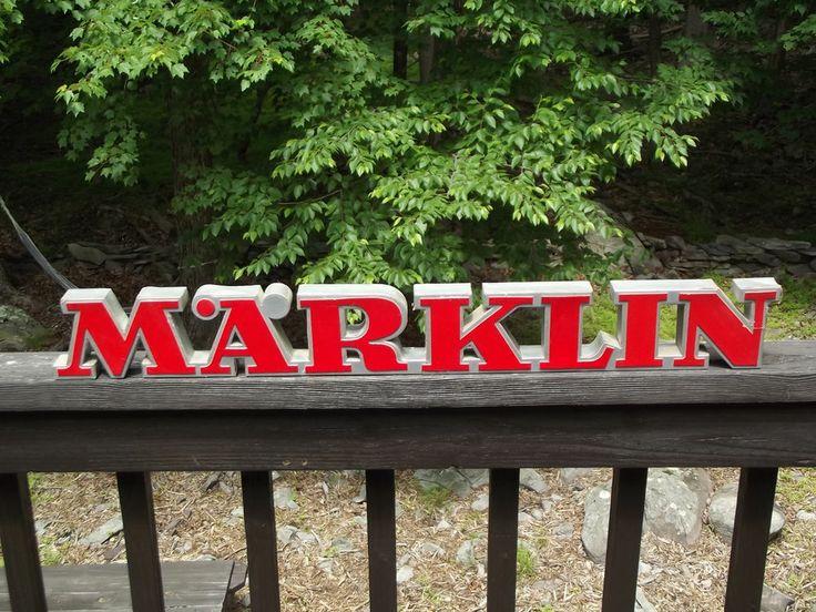 RARE VINTAGE MARKLIN TRAINS 3D DEALER SIGN MARKLIN LOGO MODEL TRAINS #Marklin