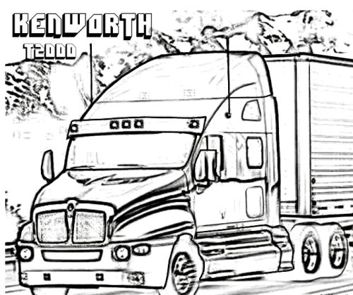 50 best free tough truck coloring pages images on
