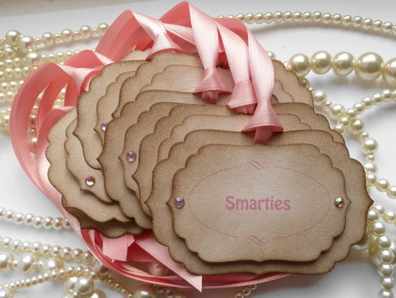 Candy Buffet Labels  Pink  Custom Tags  Personalized by amaretto, $13.50  FAV ETSY SITE