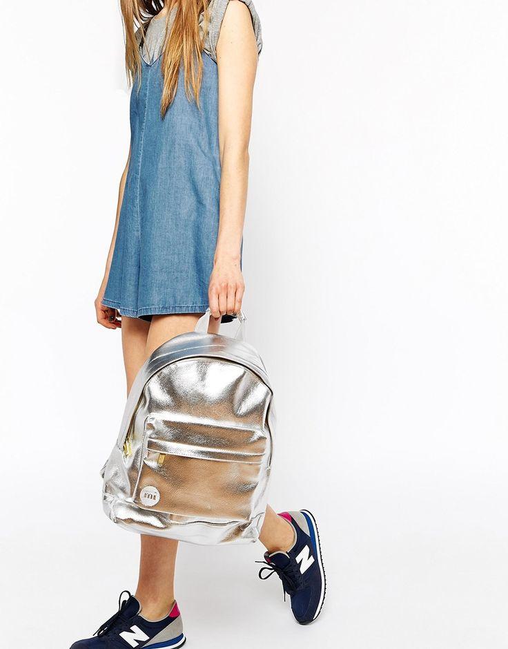 Изображение 3 из Серебристый рюкзак с отделкой металлик Mi-Pac