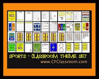 Clutter-Free Classroom: Sports Themed Classrooms