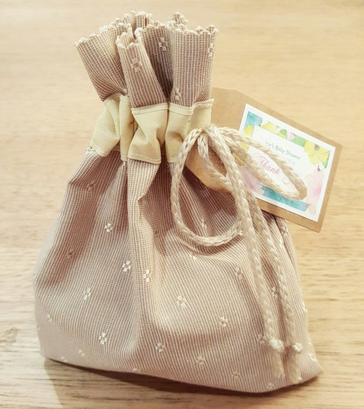 Personal & one-of-a-kind, hand made fabric favour bags.