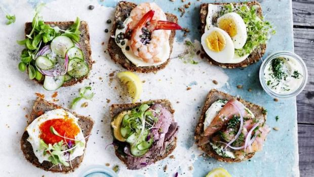 Ideas for Danish open-faced sandwiches known as smorrebrod.