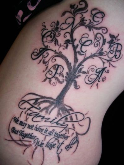 100's of Family Tree Tattoo Design