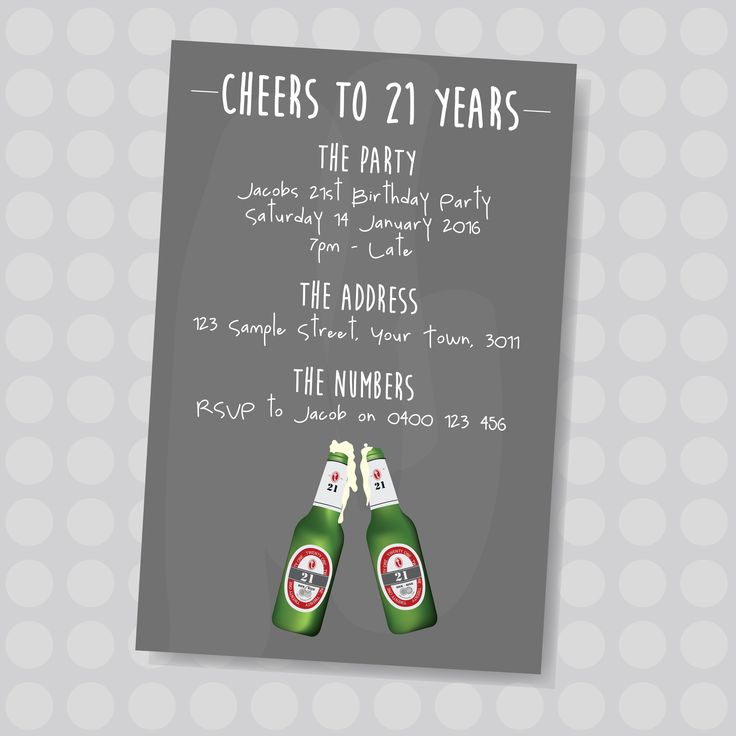 13 best ADULT BIRTHDAY INVITES images – Personalised 21st Birthday Invitations