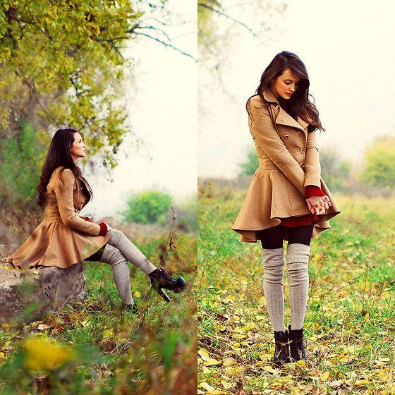 love tall sockss and lovin that coat