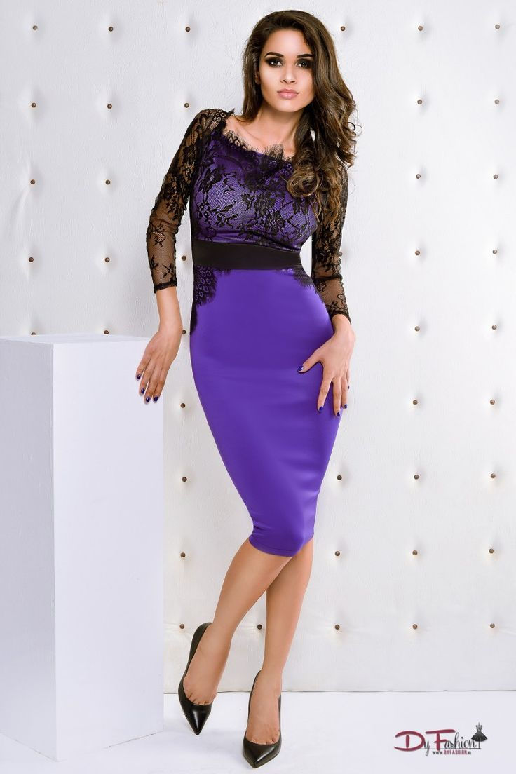 rochie-office-Dressy Purple