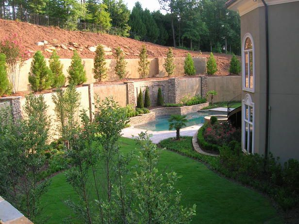 17 best images about landscape ideas on pinterest for Stucco garden wall designs
