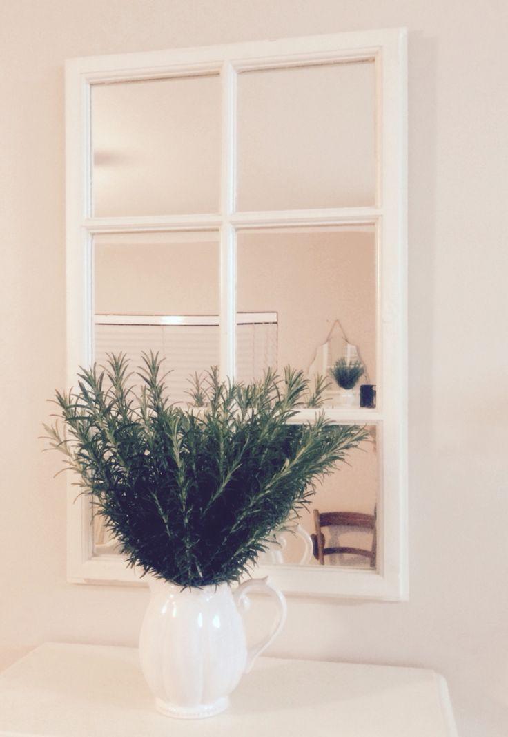white DIY mirror