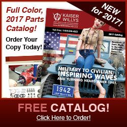 2017 Kaiser Willys Jeep Parts Catalog