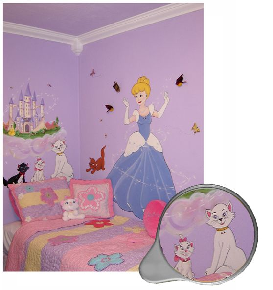 57 best painterest images on pinterest bedroom ideas for Cinderella wall mural