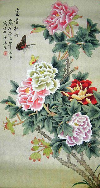 Fortune Original Chinese Peony Painting Wall Scroll : http://www.chilture.com/fortune-original-chinese-peony-painting-wall-scroll-p-619.html