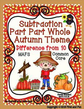 Autumn Theme Part  Part Whole Subtraction Mat and Worksheets  https://www.teacherspayteachers.com/Product/SUBTRACTION-PART-PART-WHOLE-AUTUMN-MAT-COUNTERS-WORKSHEETS-COMMONN-CORE-MAFS-2102920