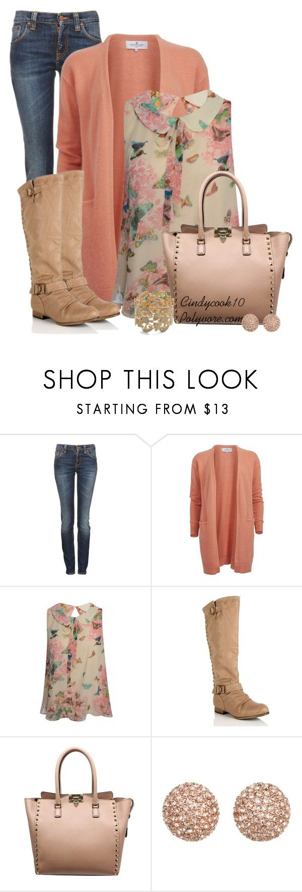 """Sleeveless Blouse"" by cindycook10 ❤ liked on Polyvore featuring Nudie Jeans Co., Valentino and Michael Kors"