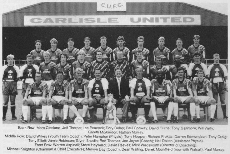 CARLISLE UNITED FOOTBALL TEAM PHOTO 1995-96 SEASON