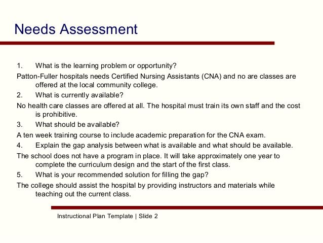 needs assessment template - Google Search