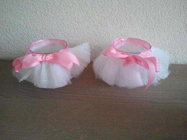 Tutu candle holders, gift for ballet teachers!