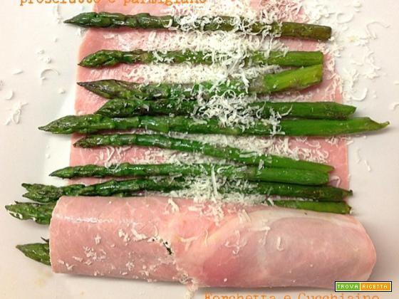 Involtini di asparagi, prosciutto e parmigiano  #ricette #food #recipes