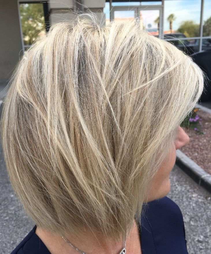 Crisp Wispy Light Blonde Bob Modern Hairstyles Hair Styles Long Face Hairstyles