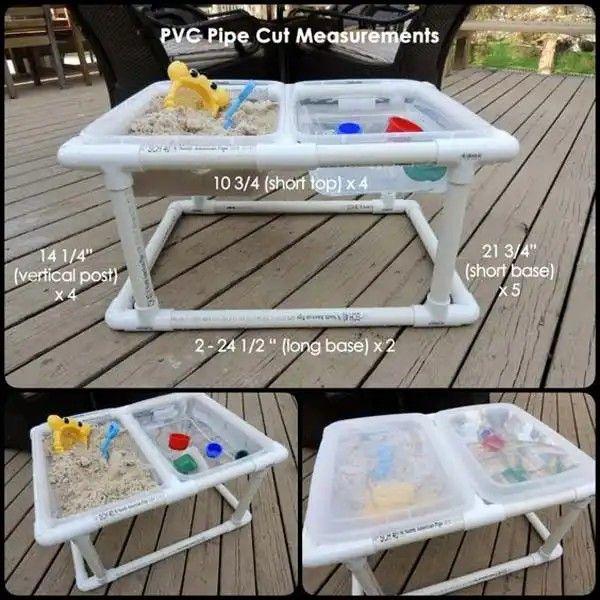 砂遊び、水遊び用 手作りテーブル