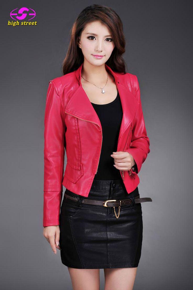 Winter Jacket Women Faux PU Leather Coat New Sale Hot Slim Motorcycle Jacket Collar Female 2017 Fashion