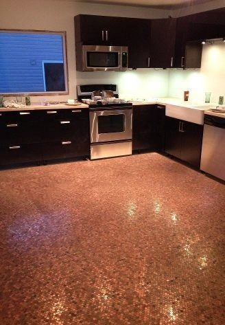 Penny Floor! Saving pennies now to do this to my kitchen floor!