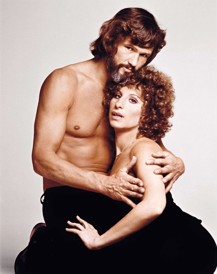 Francesco Scavullo - Barbra Streisand with Kris Kristofferson in A star is born, 1976.