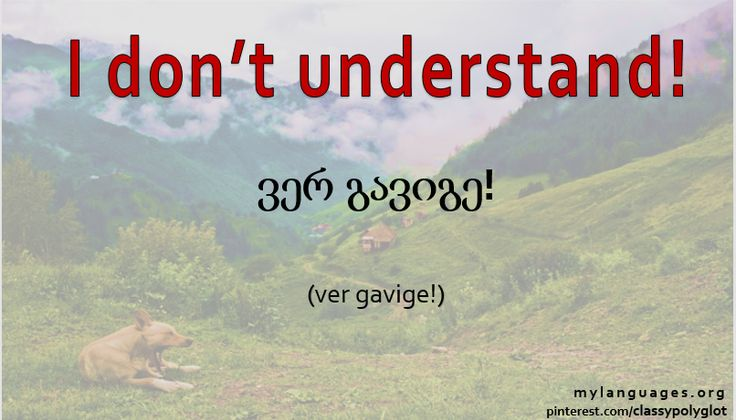 """I don't understand!"" 