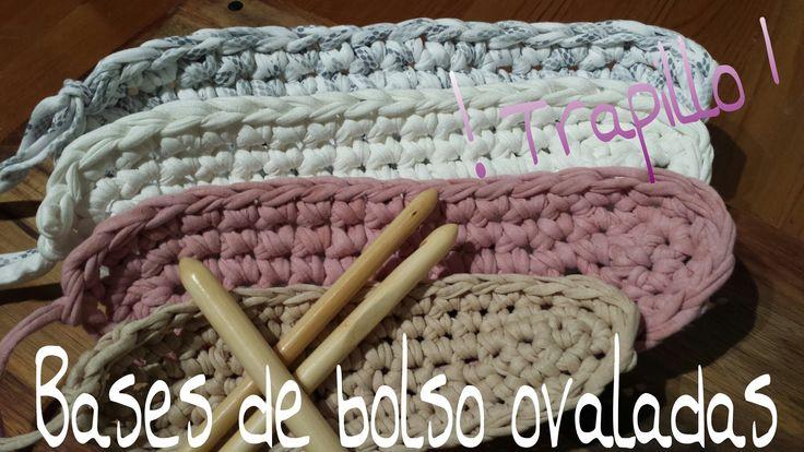 Bases de Trapillo Ovaladas.! Tutorial DIY Crochet.XXL...¡¡¡¡