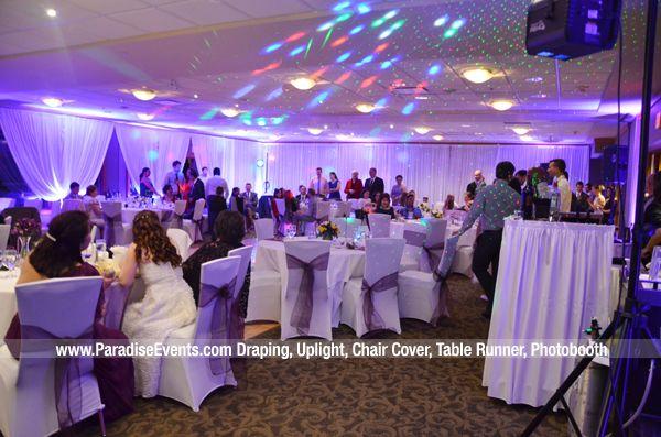 Marine Drive Golf Club Wedding Vancouver Decor Photobooth Backdrop Uplighting Paradise Events