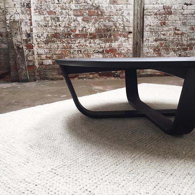 #carbon #coffeetable #chalk #armadilloandco #sierraweave #studio #tasmania #onlinestore simonancherstudio.com.au