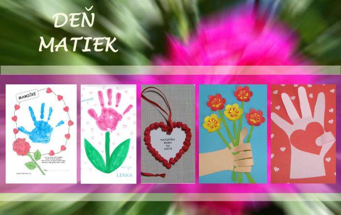 Deň matiek - tipy na darčeky pre mamu - Aktivity pre deti, pracovné listy, online testy a iné