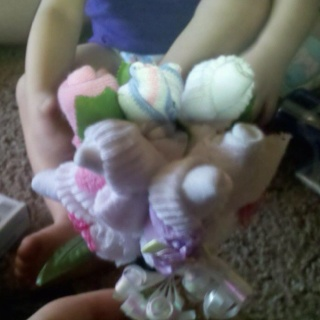 Baby sock bouquet