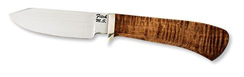 Browning Knives 574 Limited Edition Mastersmiths Collection John Fitch Fixed Blade Knife with Curly Maple Handle